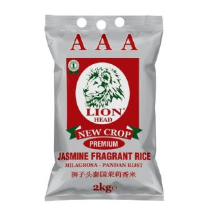 2KG Jasmine Rice by Lion Head | Buy Online at The Asian Cookshop.